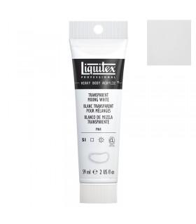 Peinture acrylique Liquitex Heavy body 59ml Blanc transparent pour mélange 430