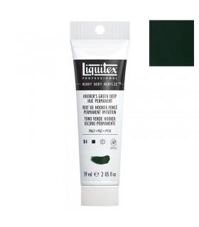 Peinture acrylique Liquitex Heavy body 59ml Vert de hooker foncée imitation 225