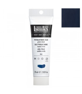 Peinture acrylique Liquitex Heavy body 59ml Bleu phtalocyanine nuanve verte 316