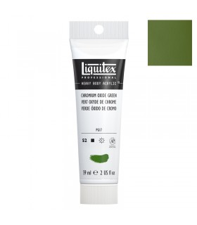 Peinture acrylique Liquitex Heavy body 59ml Vert oxyde de chrome 166