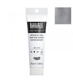 Peinture acrylique Liquitex Heavy body 59ml Argent riche iridescent 239