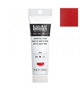 Peinture acrylique Liquitex Heavy body 59ml Rouge de cadmium moyen 154