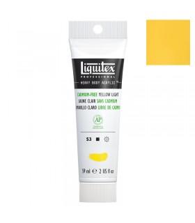 Peinture acrylique Liquitex Heavy body 59ml Jaune clair sans cadmium 889