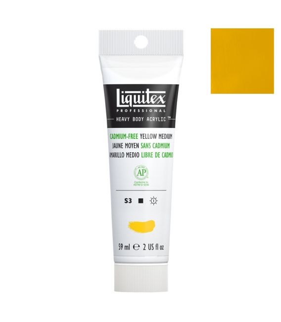 Peinture acrylique Liquitex Heavy body 59ml Jaune moyen sans cadmium 890