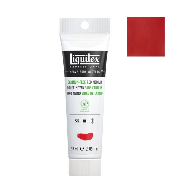 Peinture acrylique Liquitex Heavy body 59ml Rouge moyen sans cadmium 894
