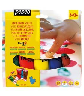 Atelier peinture aux doigts 5x80ml TactilColor Pébéo
