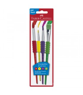 Blister 4 pinceaux soft touch Faber-Castell