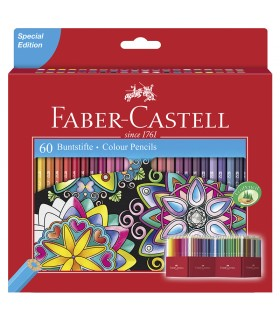 60 Crayons de Couleur Castle Faber-Castell