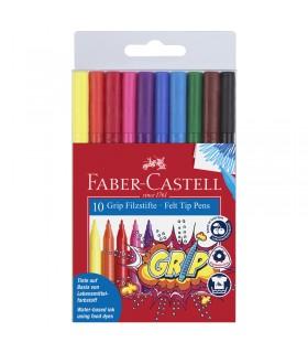 10 Feutres GRIP Colour pochette Faber Castell