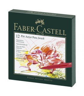 Box 12 Feutres Pitt Artist pen studio Faber Castell