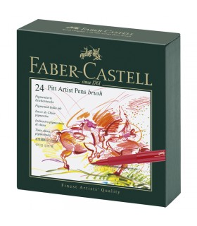 Box 24 Feutres Pitt Artist pen studio Faber Castell