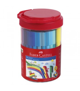 Tube 50 Feutres Connector Faber-Castell