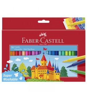 50 Feutres Scolaires Château Faber-Castell