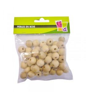 Perles Bois 50 Ø20mm trou Ø4mm Graine créative
