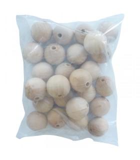 10 Perles Bois Ø35mm trou Ø6mm Graine créative