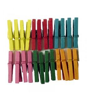 24 pinces à linge couleurs Assorties 25mm Graine créative