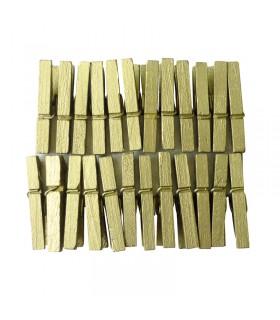 24 pinces à linge dorées 30mm Graine créative