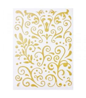 Arabesques paillettes dorées adhésives Graine créative