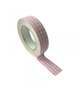 Masking tapeTissus Vichy rose Graine créative
