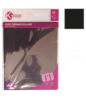 Flex thermocollant noir mat Graine créative