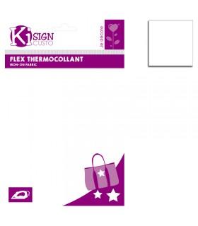 Flex thermocollant 20x25cm blanc mat Graine créative