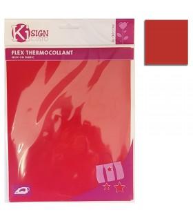 Flex thermocollant 20x25cm rouge mat Graine créative