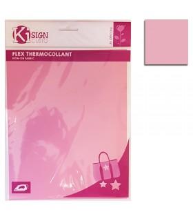 Flex thermocollant 20x25cm rose mat Graine créative