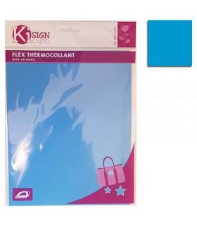 Flex thermocollant 20x25cm bleu mat Graine créative
