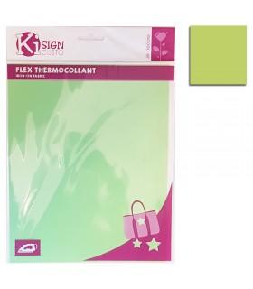 Flex thermocollant 20x25cm vert celadon mat Graine créative