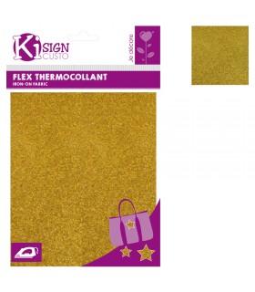 Flex Thermocollant Pailleté 15x20cm Or Graine créative