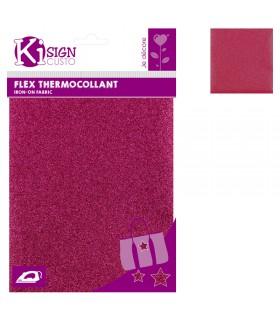 Flex Thermocollant Pailleté 15x20cm Rose Graine créative