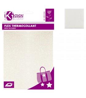 Flex Thermocollant Pailleté 15x21cm Blanc Graine créative
