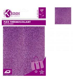 Flex Thermocollant Pailleté 15x20cm Violet clair Graine créative