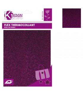Flex Thermocollant Pailleté 15x20cm Violet Graine créative