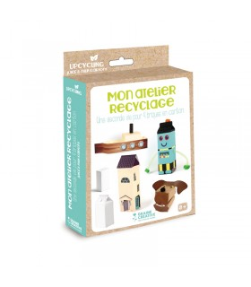 """Mon Atelier recyclage """"Une seconde vie pour 4 Briques en carton"""" Graine crative"""