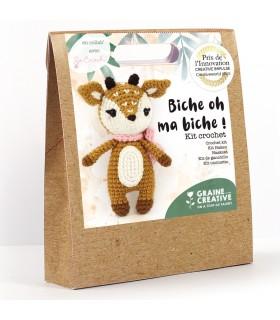 Kit Crochet Biche oh ma biche ! Graine créative