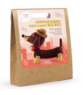 Kit Amigurumi Crochet Teckel Graine créative
