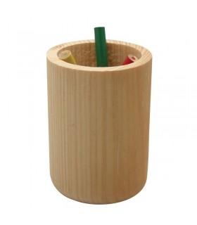 Pot à crayons cylindrique en bois Graine Créative