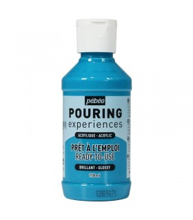 Bleu Turquoise n°18 Pouring Pébéo 118ml