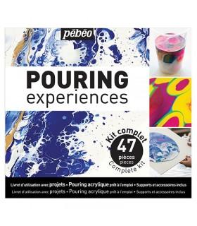 Kit Peinture Acrylique Pouring Experience 47 pièces Pébéo