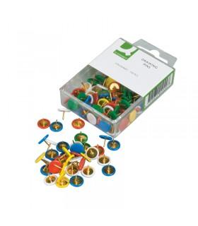 120 Punaises ø10mm coloris Assortis Q-Connect
