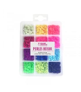 Perles Heishi Couleurs Fluorescentes Graine créative