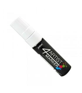 4Artist Marker Blanc pointe plate 15 mm