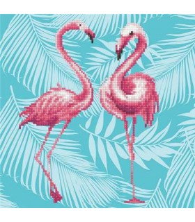 Diamond Art Duo Flamants Roses