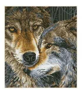 Diamond Dotz Couple de Loups
