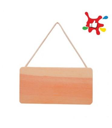 Plaque à suspendre bois Artémio