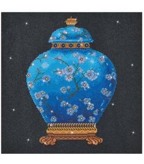 Diamond Dotz Vase Chinois Bleu