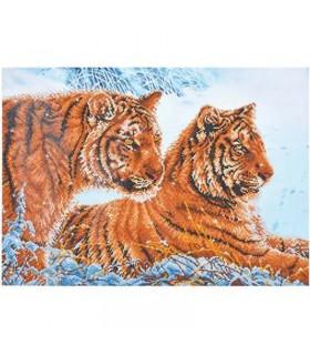 Diamond Dotz Tigres dans la Neige