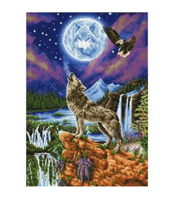 Diamond Dotz Loup ds la Nuit