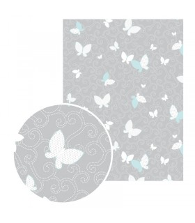 Feuille Gluepatch Papillon Gris